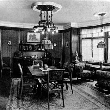 hist. Aufnahme des Esszimmer Landesausstellung 1914