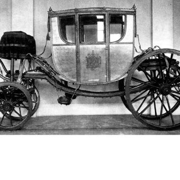 historische Ansicht des intakten Wagen